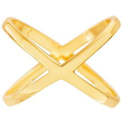 Gold Plated X Ring