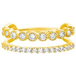 Paige Harper CZ Gold Plated Double Ring