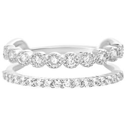 Paige Harper CZ Silver Plated Double Ring