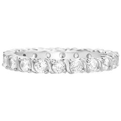 Paige Harper CZ Silver Plated Band Ring