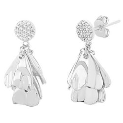 Aldona B Silver Plated Post Top Flower Earrings
