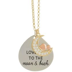 Signature Love You To The Moon Pendant Necklace