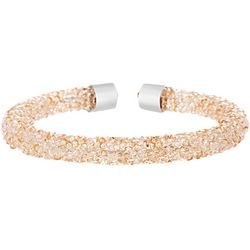 Crystal Energy Golden Shadow Crystal Elements Cuff Bracelet