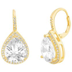 Lily Maris Clear Crystal Tear Drop Earrings