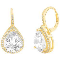 Clear Crystal Tear Drop Earrings