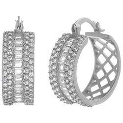 Lily Maris Fancy Clear Crystal C Hinged Earrings