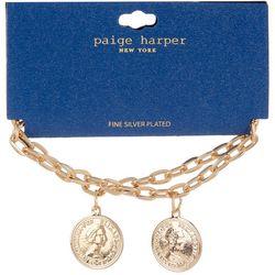Paige Harper Eliza II Two Row Chain Coin Bracelet
