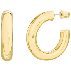 Paige Harper Gold Tone C-Hoop Earrings
