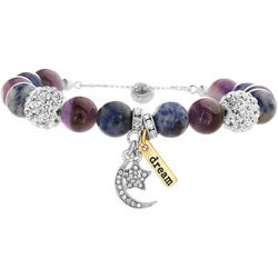 Balance Beads Purple Agate Moon & Star Bracelet