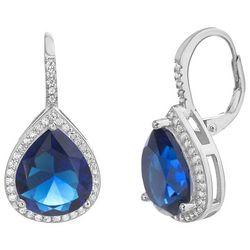 Piper & Taylor Teardrop Saphhire Look CZ Drop Earrings