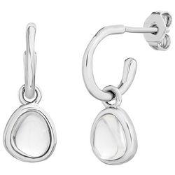 Piper & Taylor Crystal Drop C-Hoop Earrings