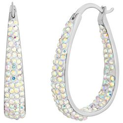 Piper & Taylor  Pave Rhinestone Oval Earrings