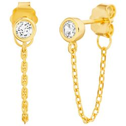Piper & Taylor Crystal Chained Post Earrings