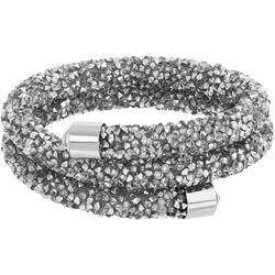 Crystal Energy 2 Row Silver Crystal Coil Bracelet