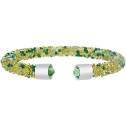 Crystal Energy Green Multi Crystal Cuff Bracelet