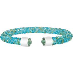 Aqua & Peridot Crystal Cuff Bracele