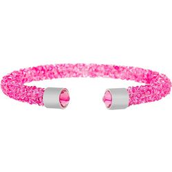 Crystal Energy Rose Pink Crystal Cuff Bracelet