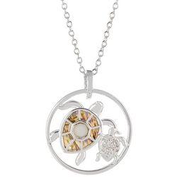 Juilliet Mom Turtle & Baby Pendant Necklace