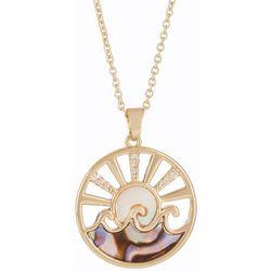 Juilliet MOP & Abalone Ocean Sunset Necklace