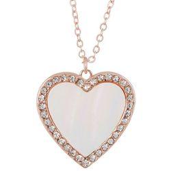 Juilliet Inlaid MOP Shell Heart Necklace