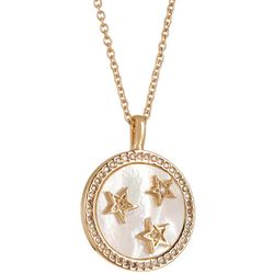 Juilliet MOP & Crystal Star Pendant Necklace
