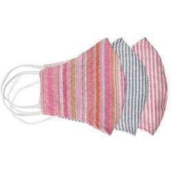 Thin Striped 3-pc Reusable Masks