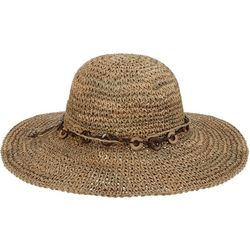 Scala Womens Crochet Seagrass Sun Hat