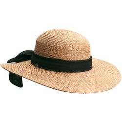 Scala Womens Raffia Big Bow Sun Hat