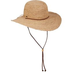 Scala Womens Big Brim Raffia Sun Hat