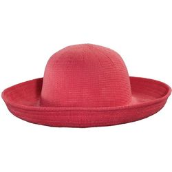 Scala Womens Knitted Straw Big Rim Sun Hat