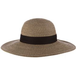 Scala Womens Poly and Paper Braid Sun Hat