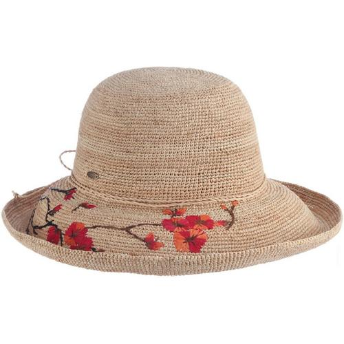4c0d99c5791e1 Scala Womens Flower Embroidered Sun Hat