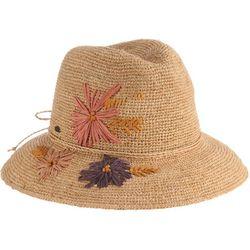 Scala Womens Embroidered Safari Hat