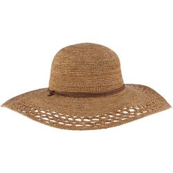 Scala Womens Crocheted Big Rim Sun Hat