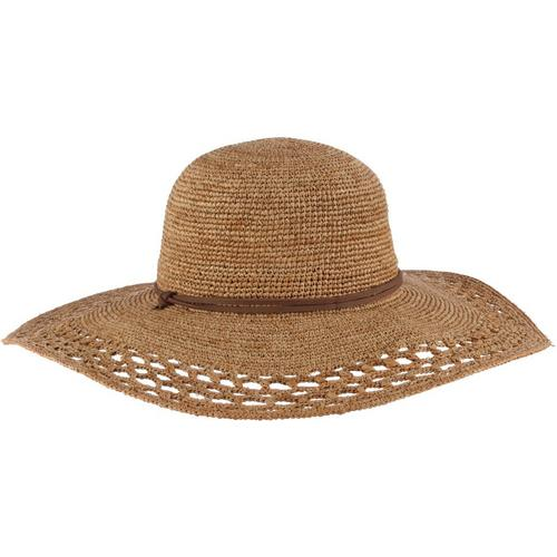 d692f6d6355 Scala Womens Crocheted Big Rim Sun Hat