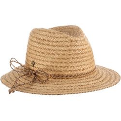f03663bd Tommy Bahama Womens Braided Raffia Fedora with Lurex