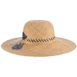 Tommy Bahama Womens Embroidered Raffia Sun Hat