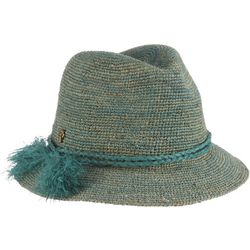 Tommy Bahama Womens Crochet Raffia Safari Hat