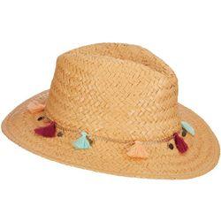 Scala Womens Toyo Straw Tassel Safari Hat