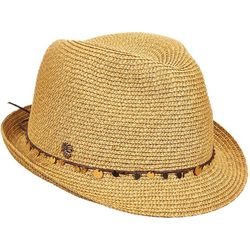 Tommy Bahama Womens Paper Braid Sequin Fedora