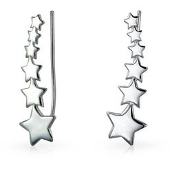 BLING Sterling Silver Shooting Star Earrings