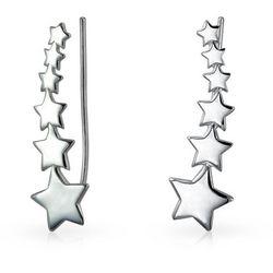 BLING Sterling Silver Shooting Star Earrings