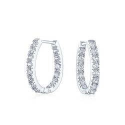 BLING Thin Inside Out Sterling Silver Huggie Hoops