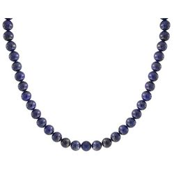 BLING Silver Plated Lapis Lazuli Bead Necklace