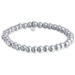 Sterling Silver 6mm Bead Stretch Bracelet
