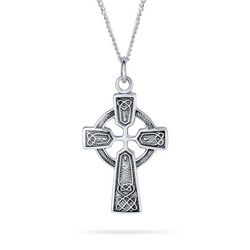 BLING Celtic Trinity Cross Pendant Necklace