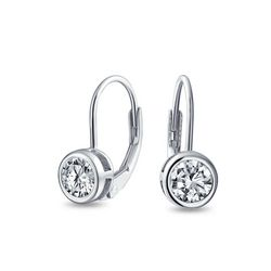BLING Sterling Silver Cubic Zirconia Earrings