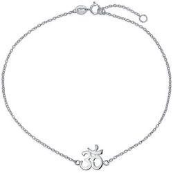BLING Om Aum Symbol Chain Anklet