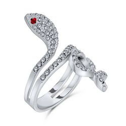 BLING Twisted Snake Pave Crystal Ring