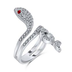 Twisted Snake Pave Crystal Ring